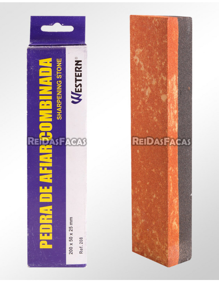 PEDRA DE AFIAÇÃO COMBINADA 20 cm WESTERN 208