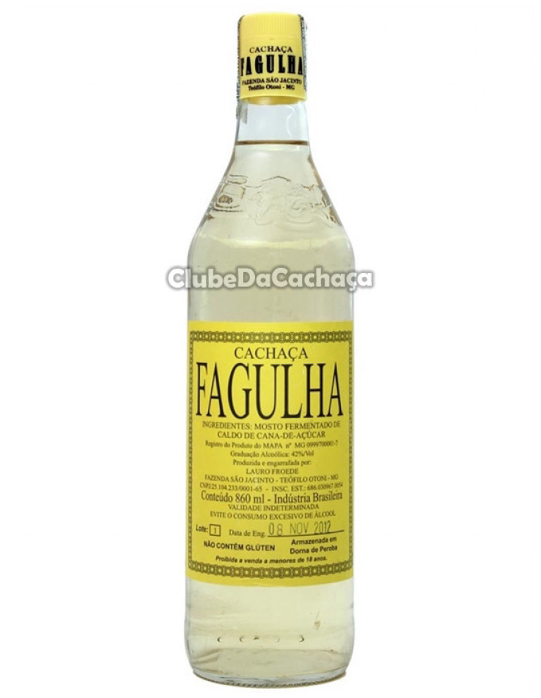 Cachaça Fagulha Ouro 860 ml